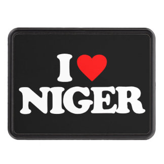 I LOVE NIGER TRAILER HITCH COVERS