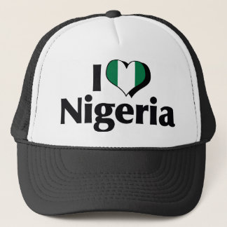 I Love Nigeria Flag Trucker Hat