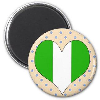 I Love Nigeria Refrigerator Magnet