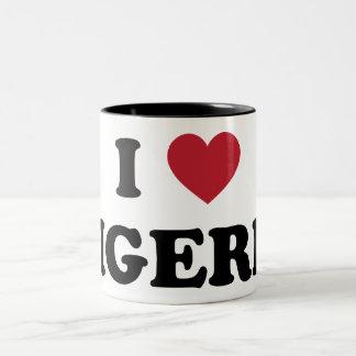 I Love Nigeria Two-Tone Coffee Mug