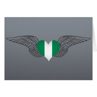 I Love Nigeria -wings Greeting Card