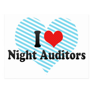 I Love Night Auditors Post Card