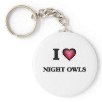 I Love Night Owls Keychain