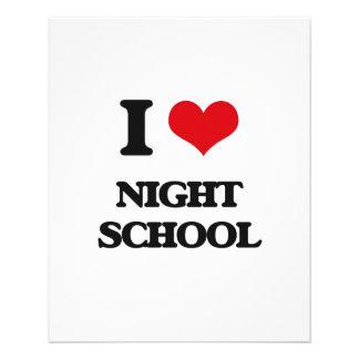I Love Night School Full Color Flyer