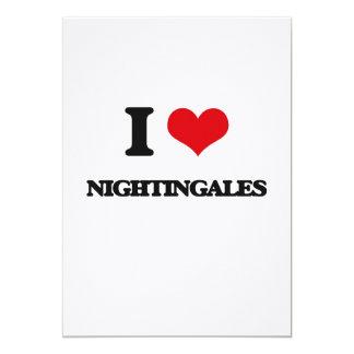 "I Love Nightingales 5"" X 7"" Invitation Card"