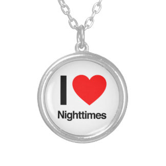 i love nighttimes round pendant necklace