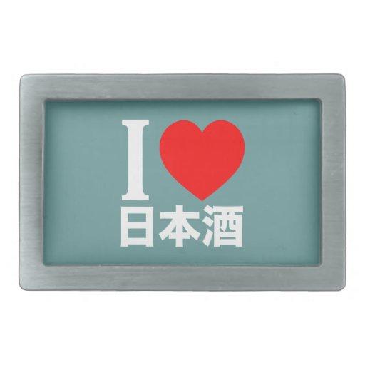 I love nihon-shu (a.k.a. sake, rice wine) rectangular belt buckle