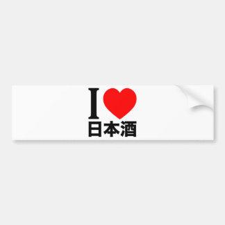 I love Nihon-shu (a.k.a. sake, rice wine) Car Bumper Sticker