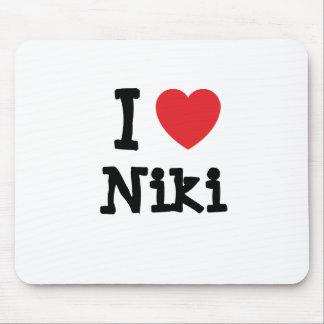 I love Niki heart T-Shirt Mouse Pad