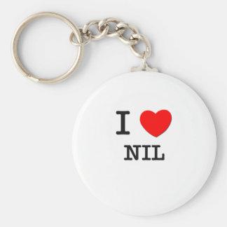 I Love Nil Basic Round Button Keychain