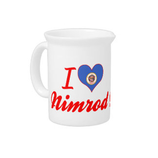I Love Nimrod Minnesota Beverage Pitcher