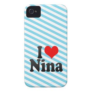 I love Nina iPhone 4 Case-Mate Case