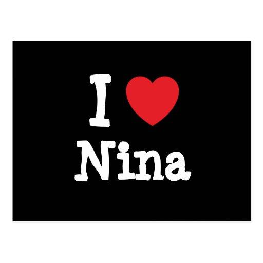 I love Nina heart T-Shirt Postcard
