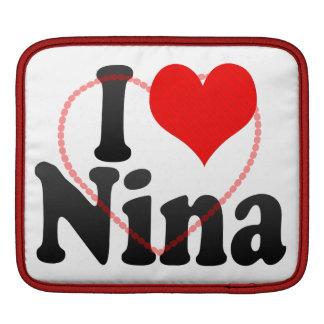 I love Nina iPad Sleeve