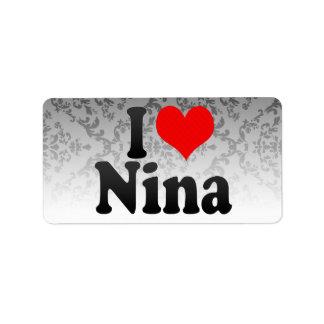 I love Nina Address Label