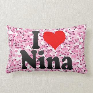 I love Nina Throw Pillow
