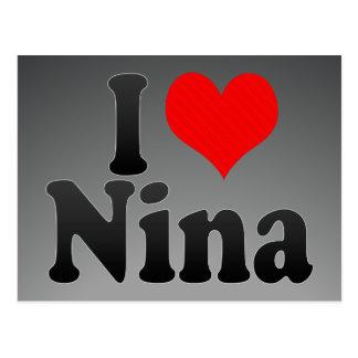 I love Nina Postcard