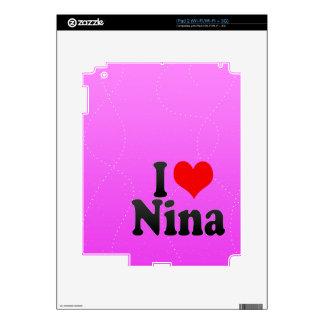 I love Nina Decals For iPad 2