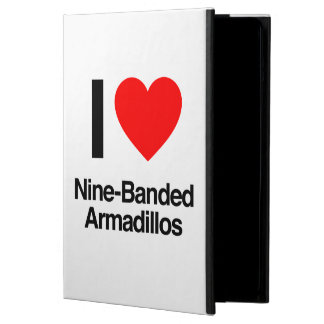 i love nine-banded armadillos cover for iPad air