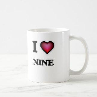 I Love Nine Coffee Mug