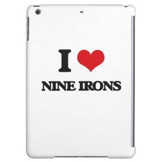 I love Nine Irons iPad Air Cover