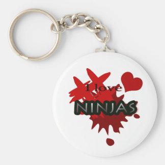 I Love Ninjas Keychain