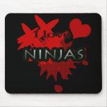 I Love Ninjas Mouse Pad