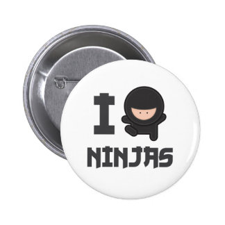 I love ninjas pinback button