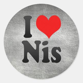 I Love Nis, Serbia Round Sticker