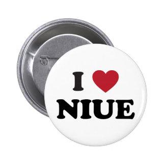 I Love Niue Pinback Button