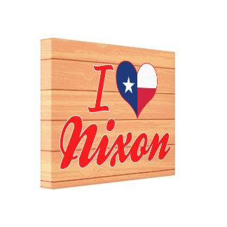 I Love Nixon Texas Canvas Prints