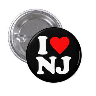 I LOVE NJ 1 INCH ROUND BUTTON