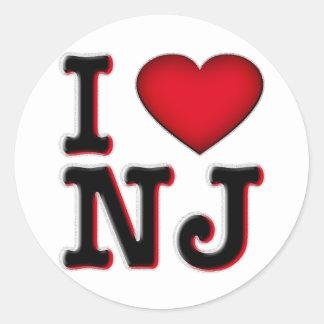 I Love NJ Apparel & Merchandise Classic Round Sticker