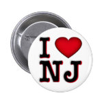 I Love NJ Apparel & Merchandise Pinback Button