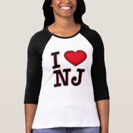 I Love NJ Apparel & Merchandise T-Shirt