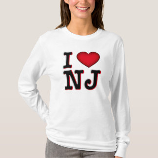 I Love NJ Apparel & Merchandise T-Shirt
