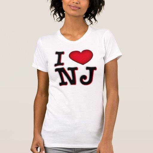 I Love NJ Apparel & Merchandise Tee Shirt