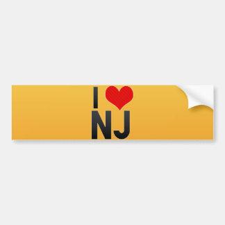 I Love NJ Bumper Sticker