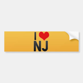 I Love NJ Bumper Stickers
