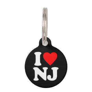I LOVE NJ PET ID TAGS
