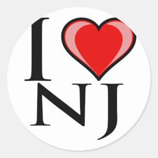 I Love NJ - New Jersey Classic Round Sticker