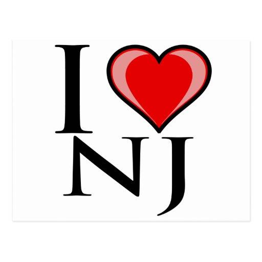 I Love NJ - New Jersey Postcard