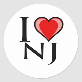 I Love NJ - New Jersey Stickers