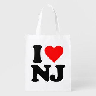 I LOVE NJ REUSABLE GROCERY BAGS
