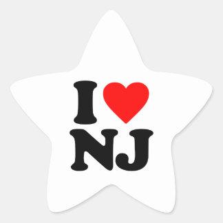 I LOVE NJ STAR STICKER