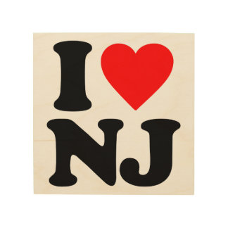 I LOVE NJ WOOD WALL ART