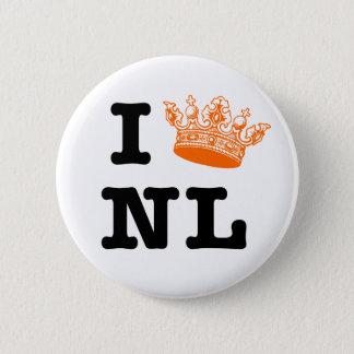 I love NL I crown NL Pinback Button