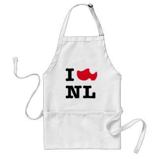 I love NL, I love Holland Adult Apron