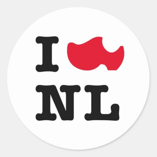 I love NL, I love Holland Sticker