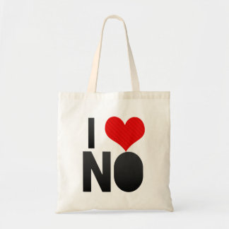 I Love NO Canvas Bag